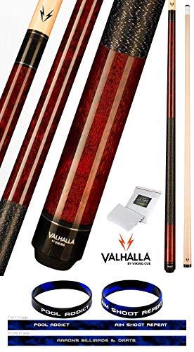 VIKING Valhalla 2 Piece Pool Cue Stick with Irish Linen Wrap VA120 (21oz, Mahogany)