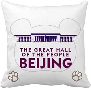 OFFbb-USA Great Hall People Beijing - Funda cuadrada para almohada