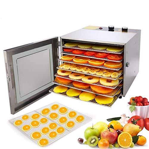 Dinger Deshidratador de Alimentos 600W,Desecadora Automática de Frutas y Verduras con 6 Bandejas,Temperatura Regulable 35 °C-75°C y Temporizador 0-12h