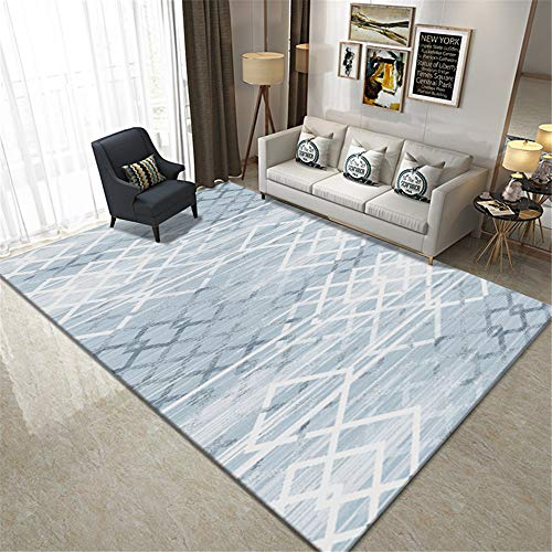MMHJS Nordic Geometric Home Living Room Carpet Non-Slip Soft Bedroom Bedside Floor Mats Office Hotel Banquet Party Carpet