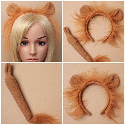 Lion bandeau queue serre-tête déguisement Cheveux Accessoire journée mondiale du Livre Halloween
