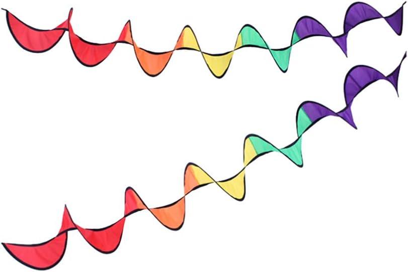 LIOOBO 1PC Tent Wind Strip Colorful Foldable Rainbow Strip Wind