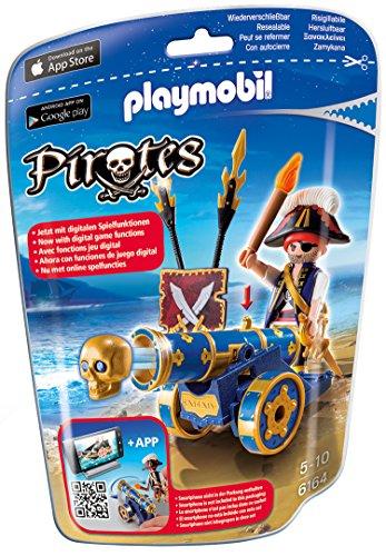 Playmobil 6164 - Blaue App-Kanone mit Piraten-Offizier