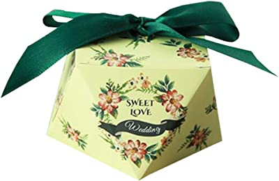 50pcs Decorative Treats Boxes Wedding Party Favor Box Candy Bag Chocolate Gift Boxes Sweet Love