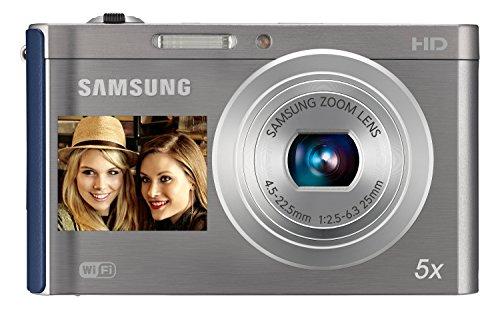Samsung ES DV300F Kompaktkamera 16.1MP 1/2.3Zoll CCD 4608 x 3456Pixel Blau, Silber - Digitalkameras (16,1 MP, 4608 x 3456 Pixel, CCD, 5X, HD, Blau, Silber)