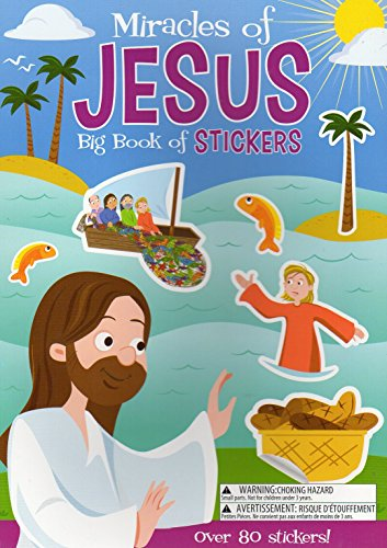 Big Book of Stickers - Miracles of Jesus - Activity Book Includes Over 80 Stickers