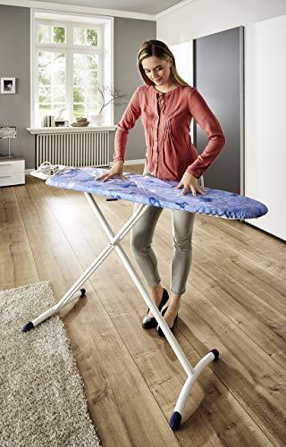 Leifheit strykbord Air Board M Solid Plus är ställbar i höjden, strykbrädan för ångstrykjärn, ångstrykbord med tvåsidig strykningseffekt