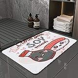 La Alfombra de baño es Suave y cómoda, Absorbente,...