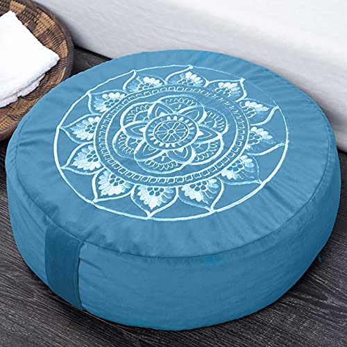 Florensi Meditation Cushion (16'x16'x5'), Large Velvet Meditation Pillow, Premium Yoga Pillow for...