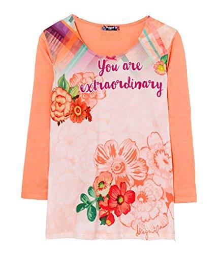 Desigual - Camiseta - para mujer Orange Blossom Medium