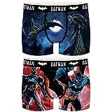 FREEGUN PK2218-S Set 2 Boxer Batman DC Comics-Microfibra-92% poliéster, 8% Elastano, Pack 2pcs Pk2218, S para Hombre