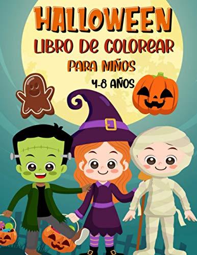 Halloween Libro de Colorear Para Niños 4-8 años: Libro para colorear en Halloween | 30 dibujos para ser coloreados