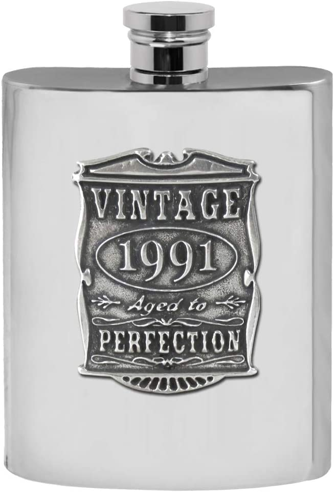 English Pewter Company 6oz Free Shipping Cheap Bargain Gift Vintage Years A Outlet sale feature Birthday 30th or 1991