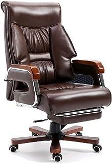 CC Chair Silla De Escritorio De Oficina De PU, Racing,Asiento Giratorio del Escritorio del Ordenador, Sillón De Oficina Elevable Y Reclinable con Reposapiés,Gold