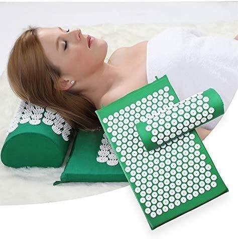 NIEFENG Haushaltsprodukte Akupressur Mat & Kissen Set/Akupunktur Mat Spike Yoga-Matte for Massage Wellness Entspannung und Verspannungen zu lösen Muskelentspannung Post-Sport Erholung