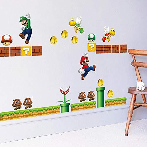 Super Mario Kinderzimmer Schlafzimmer Wandaufkleber Wasserdicht Abnehmbare Aufkleber