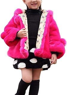 53fb827ca8dbc LaoZanA Filles Manteau Fausse Fourrure Veste Chaud Hiver Cape Blousons  Vêtements Princesse Manteaux