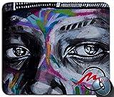 ZMvise Graffiti Eyes Art Street Art Modisches Cartoon-Mauspad Matte Fashion Muster Custom Rechteck Gaming Mauspad