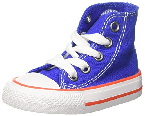 Converse Unisex-Kinder CTAS HI Fitnessschuhe, Blau (Hyper Royal/Bright Poppy/White 483), 31 EU