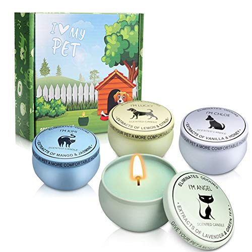 LY Pet Odor Exterminator Candle, Aromatherapy Soy Scented Candle for Pets,Pet Odor Eliminator
