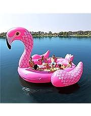 6-Persoons Gigantische Eenhoorn Flamingo Zwembad Drijvers Voor Volwassenen Kinderen, Draagbare 15,7 Ft Zwembad Opblaasbare Drijvers Met Snelle Kleppen Voor Zwembad Speelgoed Zwemmen Partij,Flamingo
