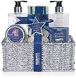 BRUBAKER Cosmetics 10-tlg. Einhorn Bade- und Dusch Set Colorful Rainbow - Geschenkset mit Vanille...