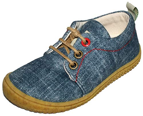 Filii Cooler Sneaker/Barfußschuh aus GOTS zertifizierter KBA BW, Jeans Blue,...