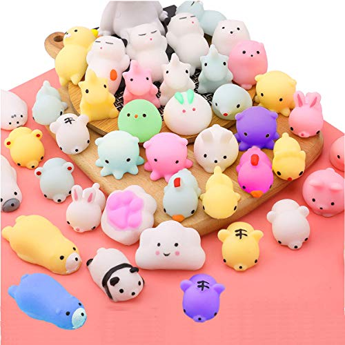EVERICH TOY Stress Relief Toys Mochi Animals Squishy Toy Birthday Party Favors for Kids Mini Kawaii Squishies Animals Squeeze Toys