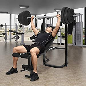 Weight Bench Barbell Lifting Press Gym Equipment Exercise Adjustable Incline