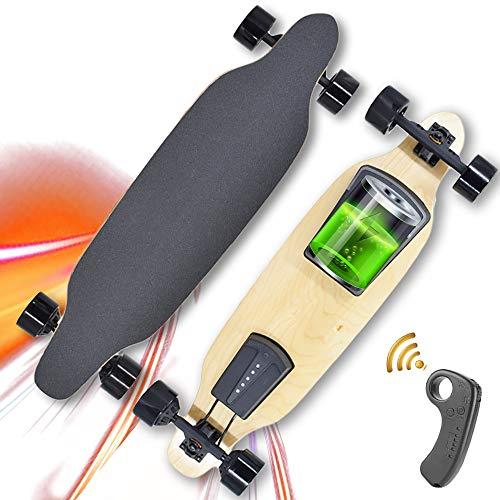 WOTR Skateboard Elettrico, velocità 40 km/h, Skateboard Elettrico Cruiser con Telecomando, carico Massimo 120 kg, 2 modalità di Guida, 4 Marce, miglior Regalo
