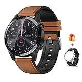 Voigoo Smartwatch Pantalla táctil de 1,3', IP68 Impermeable Reloj Inteligente con ECG,Llamada...