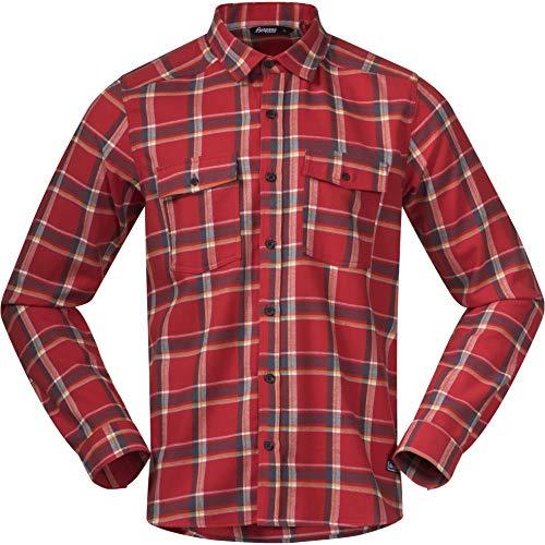Bergans Tovdal Shirt Men, Red Sand Check Modèle M 2020 T-Shirt Manches Longues
