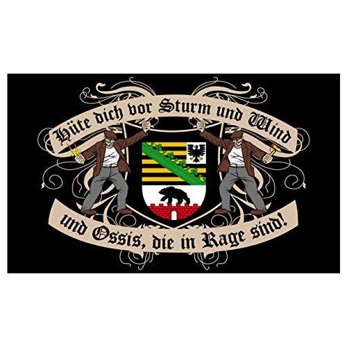 Spass kostet Fahne mit Ösen Flagge Sachsen Anhalt Spruch 90 x 150 cm