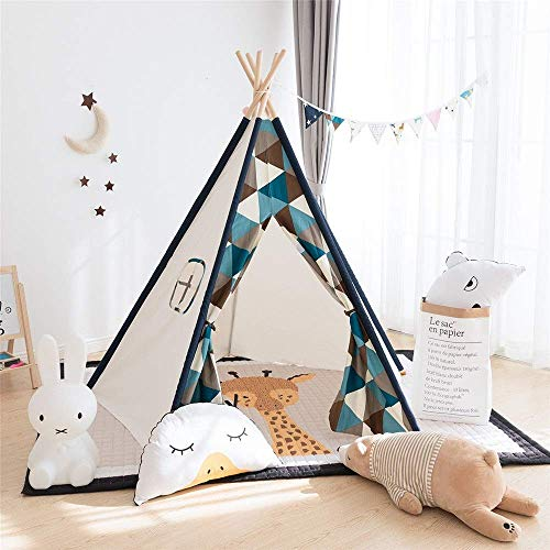 MLL Play Tent For Kids Indoor Foldable Cotton Canvas Teepee Shooting Props Play Folding Game Tent Room Decoration Children's Photography Tent For Girls Boys Babies