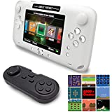 EASEGMER 16 Bit Handheld Games Built-in 2000+ Classic Retro Games 4 Inch Electronic Game Player with 16G TF Card Support Headphone & Save Games, Birthday for Kids & Adult (White)