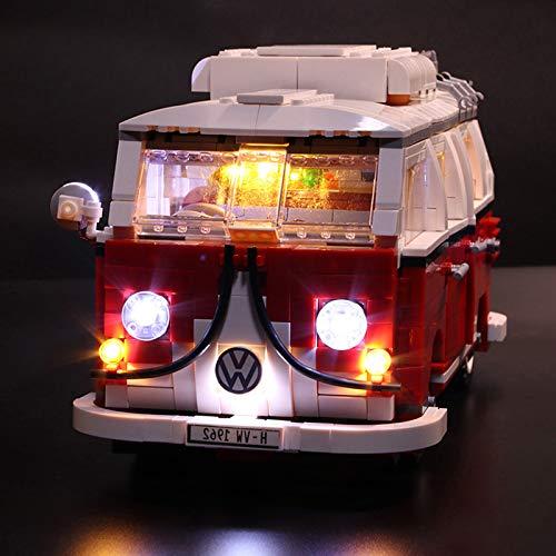 【New Version】 Led Lighting Kit for (Volkswagen T1 Camper Van) Building Blocks Model-Light Set Compatible with Lego 10220 (NOT Included The Lego Sets)