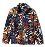 Columbia Boys' Big Zing III Fleece Jacket, Delta Weave Print, Medium