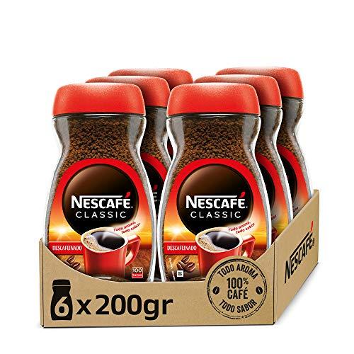 NESCAFÉ CLASSIC DESCAFEINADO todo aroma y sabor, café soluble descafeinado, frasco de...