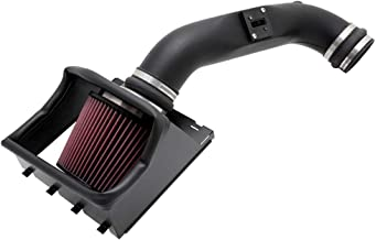 K&N Cold Air Intake Kit with Washable Air Filter:  2011-2014 Ford F150, 5.0L V8 Black HDPE Tube with Red Oiled Filter, 57-2581