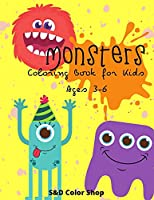Monster coloring book for kids: age 3-6