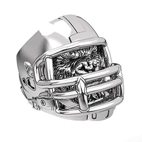 Stainless steel rugby helmet ring gorilla helmet personality bully ingested American football men's ring