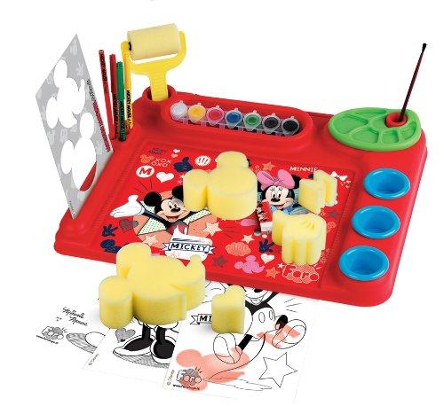 Faro - 5412 - Kit De Loisirs Créatifs - Bureau De L'artiste Multi-activités - Mickey Et Ses Amis - Pochoirs - Peinture - Dessin 44 X 36 X 5,5 Cm