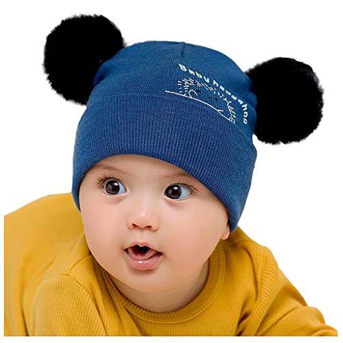 sunnymi - Gorro de punto para bebé o niña, diseño de ganchillo amarillo Talla única