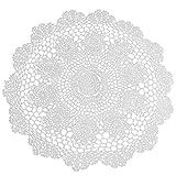 TOOGOO Coton Crochet napperon Photographie Accessoires Tampons De Coton pour La Maison Decor Cuisine Accessoires Napperons sous-bock Tapis Blanc 40cm