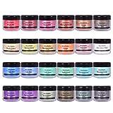 Epoxy Resin Dye - 24 Colors Mica Powder - Pigment Powder for Slime, Nail Polish, Epoxy Res...
