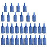 *Hpamba Luftstein für Aquarium Luftblase Stein Sauerstoff Stein für Fisch Tank Airstone für Aquarium Luftblase Airstone für Sauerstoff Stein Luftblasen Diffusor Airstones für Aquarium (30 Stücke, blau)