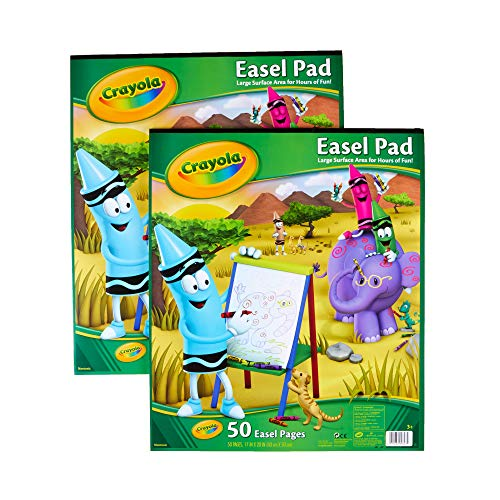 Crayola Easel Pads, Painting Supplies, Gift for Kids, Each 50 Pgs, Multicolor