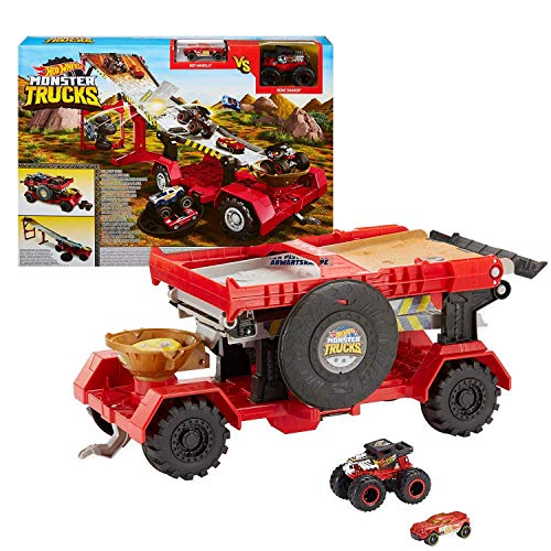 Hot Wheels Monster Trucks Pista 2 in 1 Discesa Estrema,...