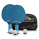 Senston Table Tennis Rackets Set, Professional Table Tennis Racket with 3 Balls, Composite Rubber Ping Pong...