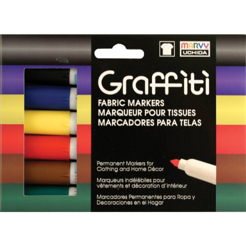 Uchida Of America 560-6A Graffiti Fabric Marker, Primary Colors